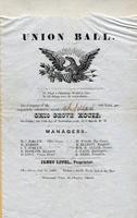 Ohio Grove House Union Ball November, 1850