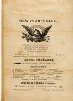 Genoa New Year's Ball Invitation, January 1, 1851