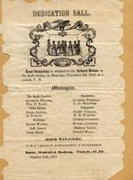 DeKalb Centre Dedication Ball Invitation, November 4, 1852