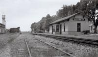 Waterman Railroad Depot; Chicago, Burlington and Quincy Railroad; Looking West