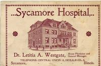 Dr. Westgate's Business Card