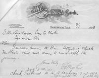 Mr. Weir's Return of the Check Authorized for Travel to the Gettysburg Reunion