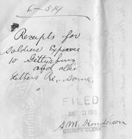 Receipts for Soldiers' Expense to Gettysburg for the Reunion