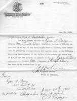 Authorization for Ezra A. Perry