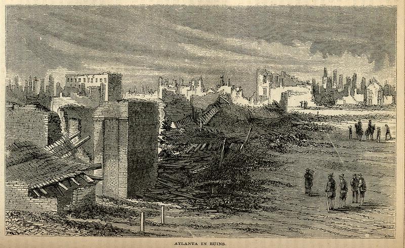 Atlanta in ruins, 1864