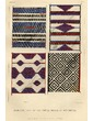 Blankets made by the Pueblo Indians of New Mexico.