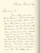 Autograph letter from Oliver Wendell Holmes, May 27, 1866