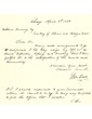 Letter from Star Foot to William Gooding concerning his resignation as Canal Inspector