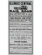 Illinois Central Railroad Broadside with Connecting Information