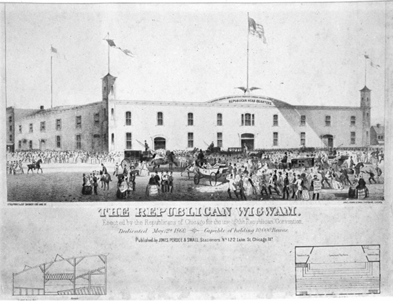 The Republican Wigwam, Chicago, Where Lincoln Was Nominated
