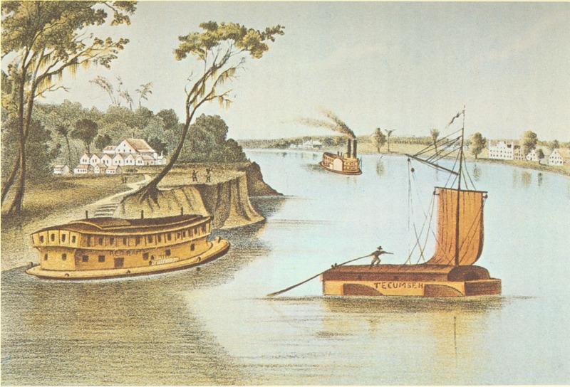A Mississippi River Scene, 1840s
