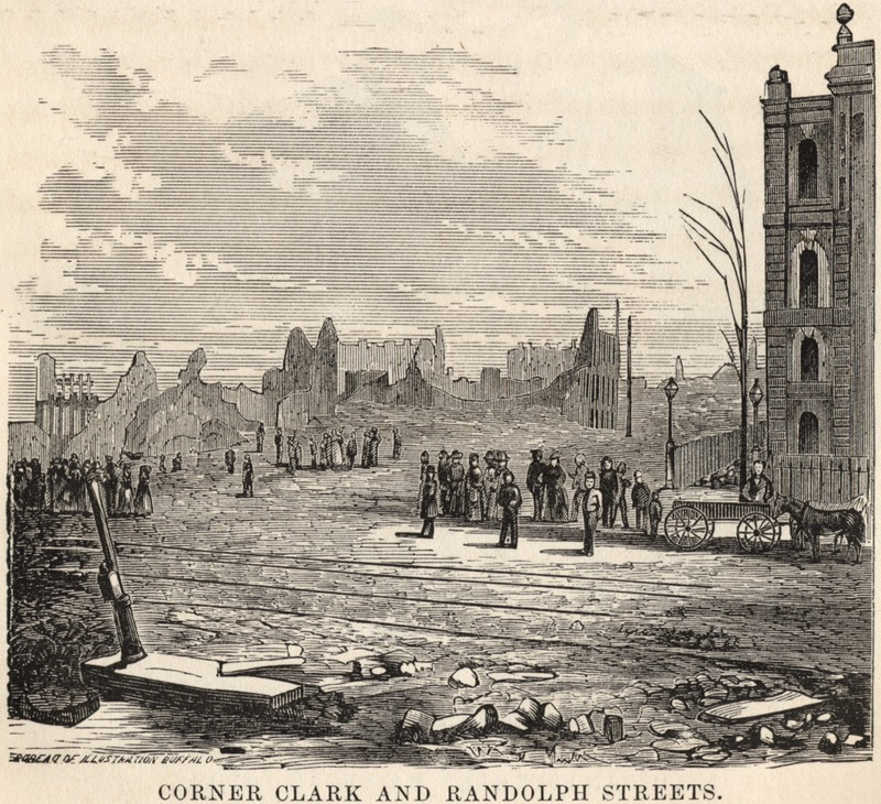 Ruins of Chicago after the Great Fire of 1871