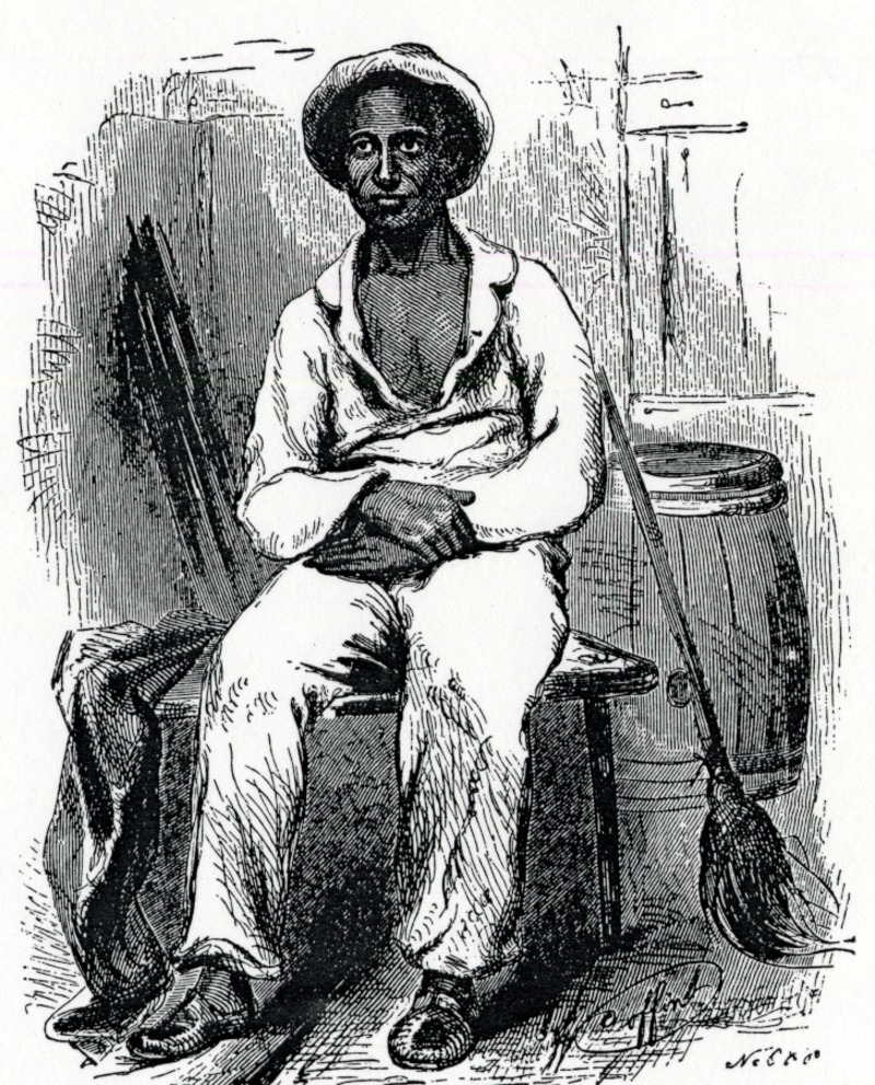 A drawing of an American slave, circa 1853.