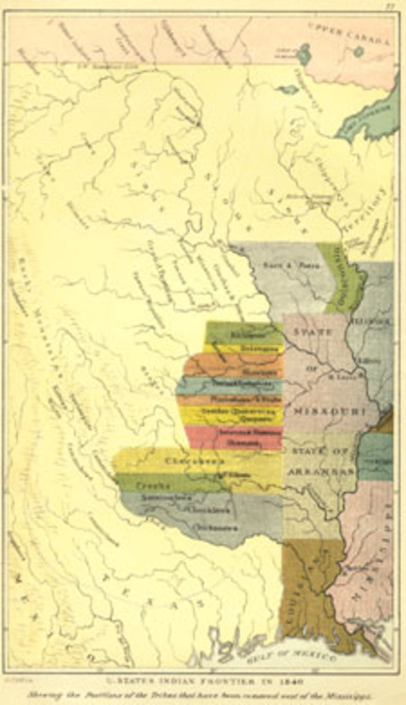 The Indian Frontier in 1840