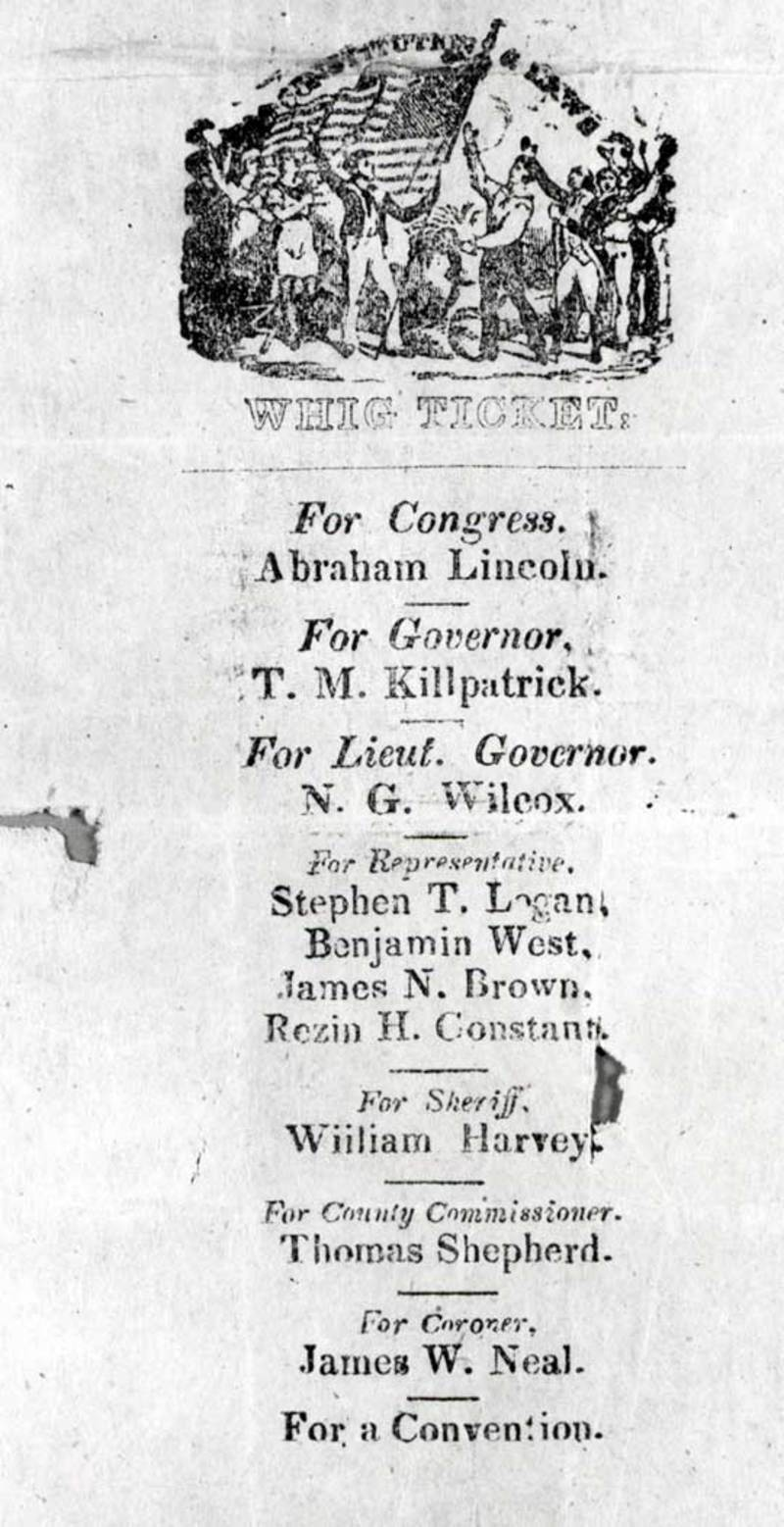 Whig Ticket, 1846