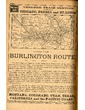 Burlington Route -- Through Train Service from Chicago, Peoria and St. Louis