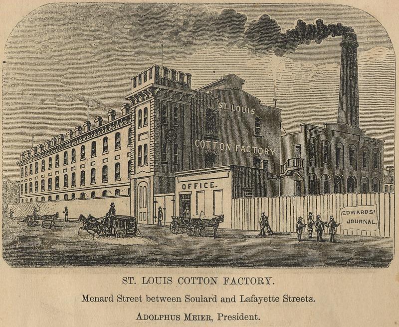 St. Louis Cotton Factory, 1860
