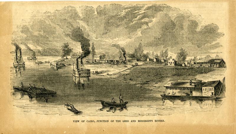 Mississippi River at Cairo, Illinois, mid-nineteenth century