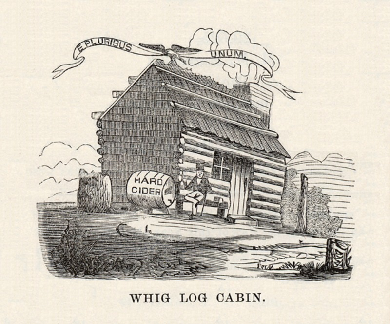 Whig Log Cabin and Hard Cider Campaign Image