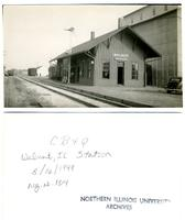 Chicago, Burlington and Quincy Railroad, Walnut, Illinois Station
