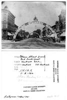 Arch over Main Street , DeKalb, Illinois