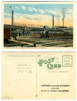 Post card, East and West Mills, American Steel and Wire