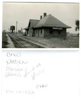 Chicago and Northwestern, Manlius, Illinois Station