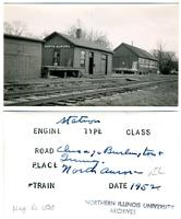 Chicago, Burlington and Quincy Railroad, North Aurora, Illinois Station