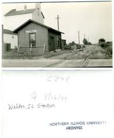 Chicago, Burlington and Quincy Railroad, Walton, Illinois Station