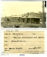 Chicago, Burlington and Quincy Railroad, Peru, Illinois Station