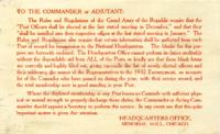 Rules and regulations and rules of order of the National Encampment (no date)