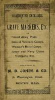 Illustrated catalogue of grave markers for Grand Army of the Republic (G.A.R.) (1894)