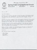 Diaconate survey committee letter (May 11, 1987)