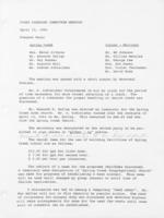 Steering committee minutes and miscellaneous correspondence (1960-1974, no date)