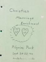 Christian marriage enrichment retreat (September 20-22, 1974)