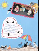 Noah's ark money and supplies collection scrap book page, and support for mountain top mission in Haiti student sponsor's photos (2000, no date)