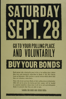 Saturday Sept. 28 go to your polling place and voluntarily buy your bonds
