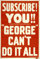 "Subscribe you!! ""George"" can't do it all"