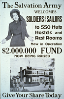 The Salvation Army welcomes soldiers and sailors to 550 huts hostels and rest rooms ...