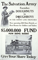 The Salvation Army furnishes doughnuts to doughboys