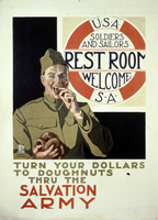 U.S.A. S.A. Rest room, soldiers and sailors welcome