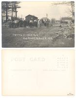 Excavating for I.O.O.F. Hall, Lee Center, Ill, April 2, 1913.