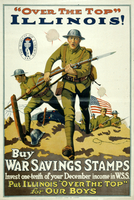 """Over the top"" Illinois! Buy War Savings Stamps"