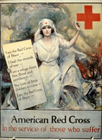 "American Red Cross ""In the service of those who suffer"""
