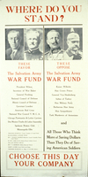 Where do you stand? These favor The Salvation Army War Fund ... These oppose ...