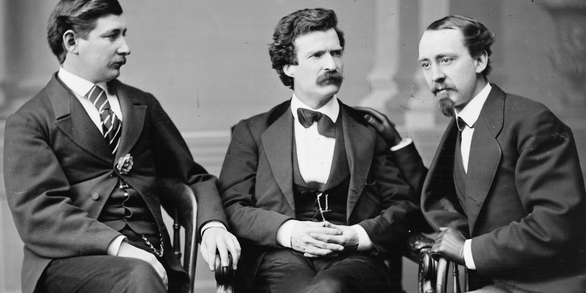 Mark Twain, George Alfred Townsend, and David Gray